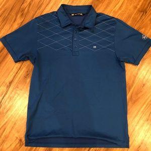 Travis Mathew L Blue Polo Brookside Golf